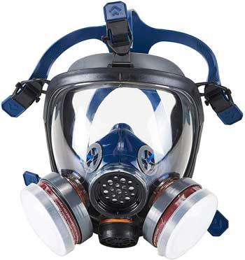 Maschera Antigas - OHMOTOR Respiratore Pieno Facciale per vapori organici